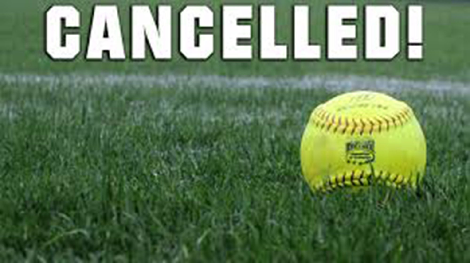 Image result for softball game cancelled image